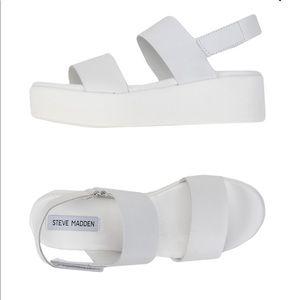 White Steve Madden - the rachel platform sandal!